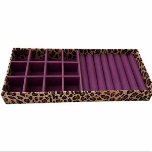 """Cheetah Jewelry Organizer Tray, Size 4.5""""x11"""""""